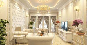 Thiết kế nội thất phòng khách đẹp sang trọng 2022 hợp thời đại